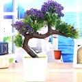 2017 Nueva llegada Venta Grande árbol bonsai flor plantas Artificiales flores artificiales planta de pinos Komatsu envío gratis