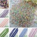 Разноцветные стеклянные жемчужные бусины 4/6/8/10/12/14 мм, круглые бусины с имитацией жемчуга для самостоятельного изготовления ювелирных укра...