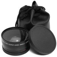 58mm 0.45x lente grande angular + lente macro para canhão 5d/60d/70d/350d/400d/450d/500d/1000d/550d/600d/1100d 18 55mm lente|18-55mm lens|wide angle lens0.45x wide angle -