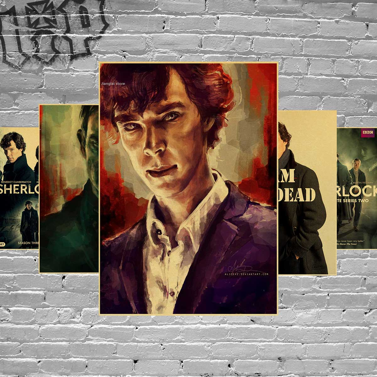 Tv Show Poster Friends American Drama Movie Vintage: Sherlock Holmes American TV Series Home Furnishing