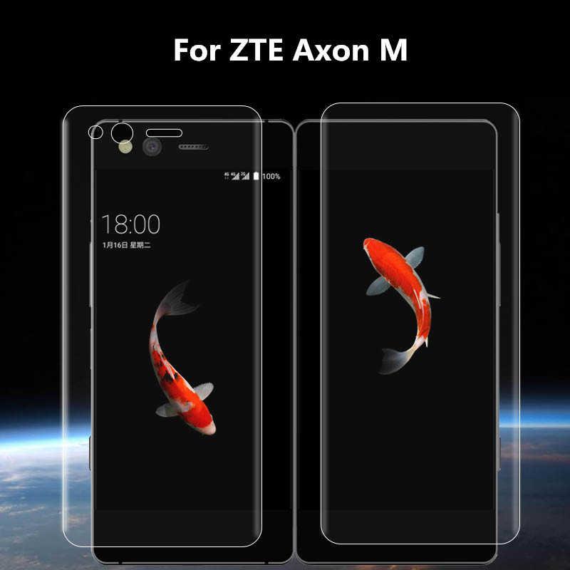 超薄型透明前面背面フルカバーソフトヒドロゲル Zte Axon 10 プロ Zte axon メートル軟質フィルム