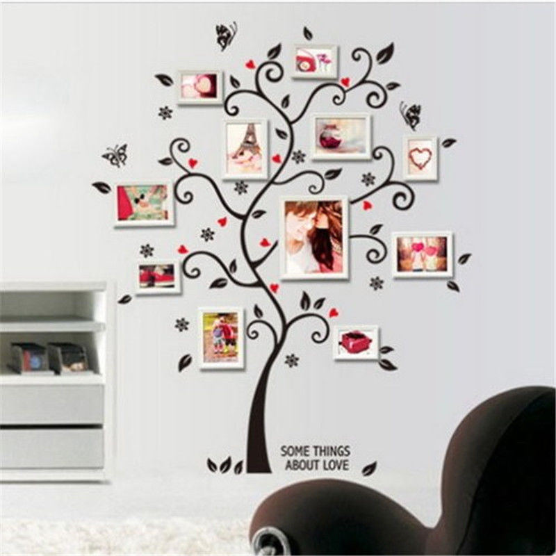 large size family photo frame tree wall sticker stickers home decor