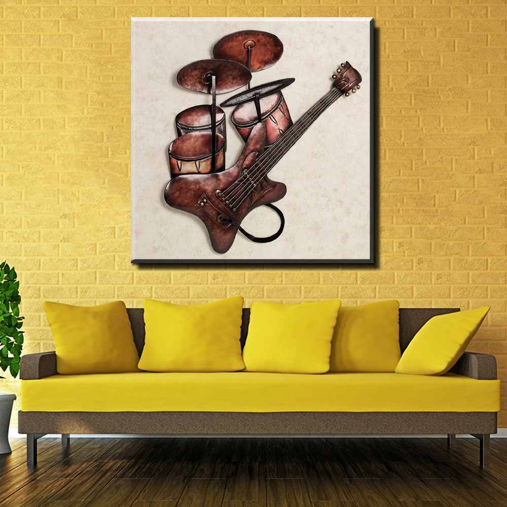 Attractive Musical Instrument Wall Art Motif - Art & Wall Decor ...