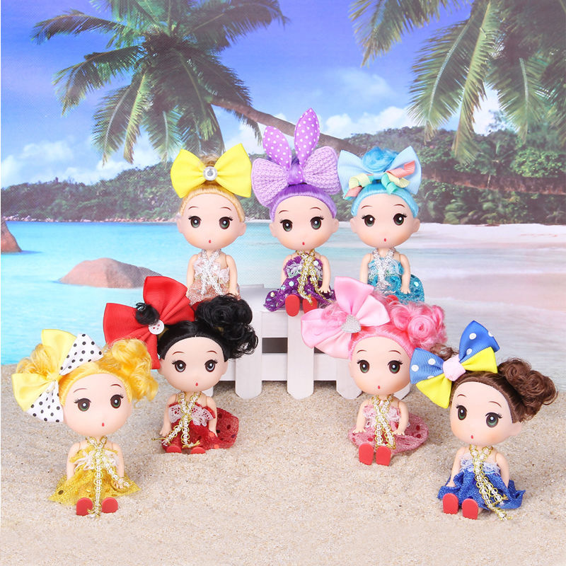 Kawaii Girl Doll Toys 12 cm Confused Doll Vinyl Toys Wedding Doll Create Childrens Hobby Toys Girl Birthday Gifts Juguetes