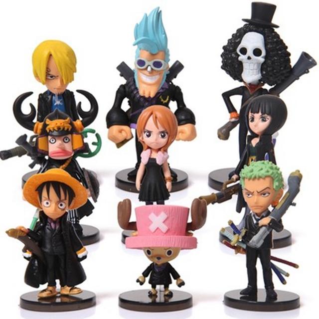 One Piece Figure Set 9 pcs