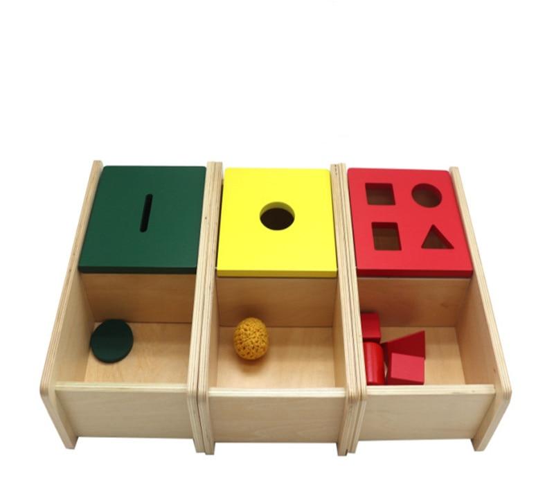 Nouveau En Bois Bébé Jouets Montessori Géométrie Éducatifs Jouets Bébé Cadeaux