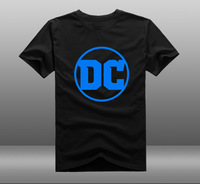 DC 2016 New Logo Mens Casual Short Sleeve Cotton O Neck Printing Pattern T Shirts Tee