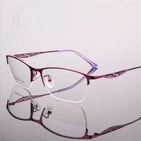 מסגרות משקפיים eyewear מרשם משקפיים של נשים נשי מתכת היפרופיה קוצר ראיה מסגרת משקפיים חצי מסגרת custom made 8239