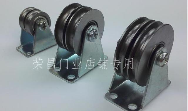 Wheel Diameter :22 mm U groove steel wire rope double pulley-in ...