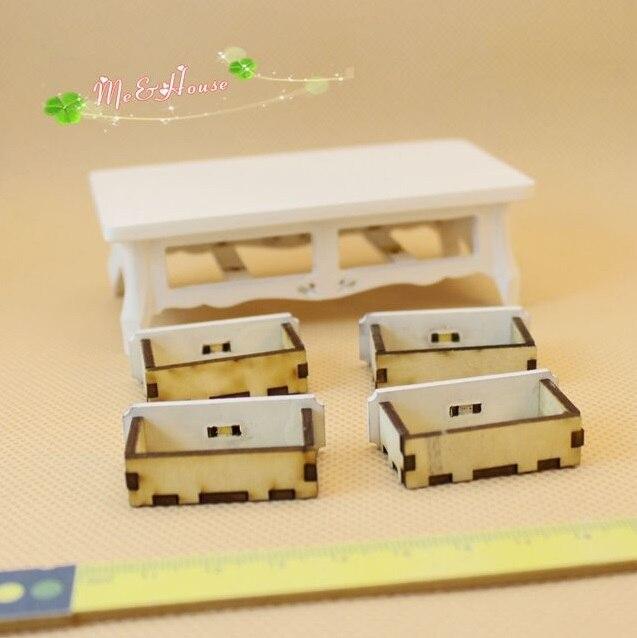Мини Кукольный дом мини мебель аксессуары без каблука журнальный столик четыре ящика