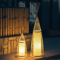 Ancient creative decoration of Chinese bamboo floor lamps standing staande lamp led floor lamps for living room Vloer