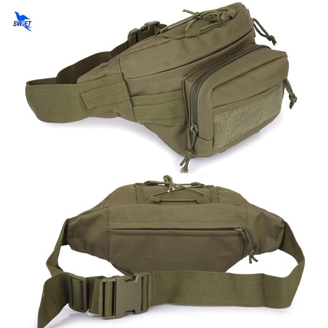 Unisex Outdoor Waterproof Waist Pack Oxford Shoulder Bag Military Tactical Pack Camping Hiking Pouch Waist Bag +Zipper Pocket