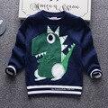 2016 осень и зима новый модный бренд детей свитер высококачественный хлопок двойной слой отдых свитер о-воротник дети топы