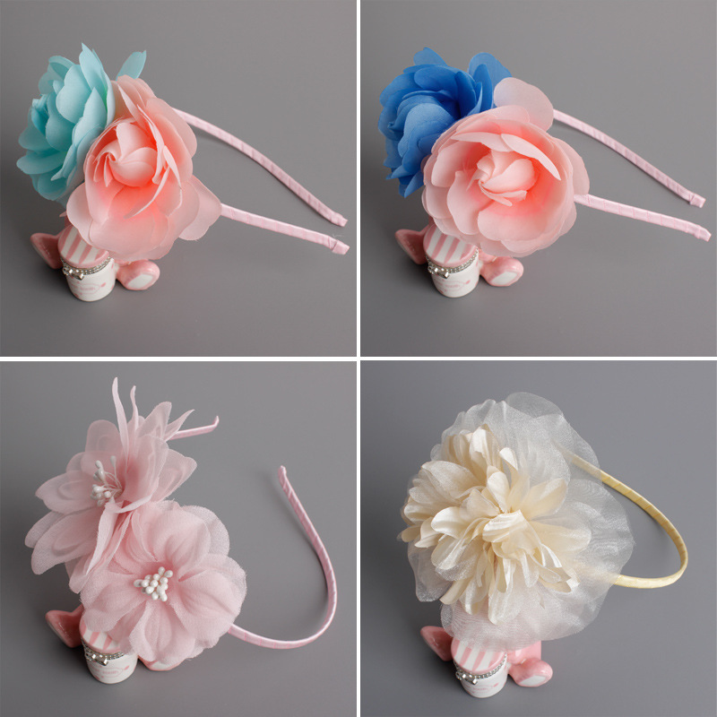 Korea Hair Accessories lovely Butterfly Flower Crown Hair Band Headband For Girls Hair Bow Princess 4