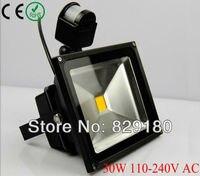 30 W Pir detetive Sensor LED Flood luz Preto Outdoor Holofote IP65 AC 85-265 V