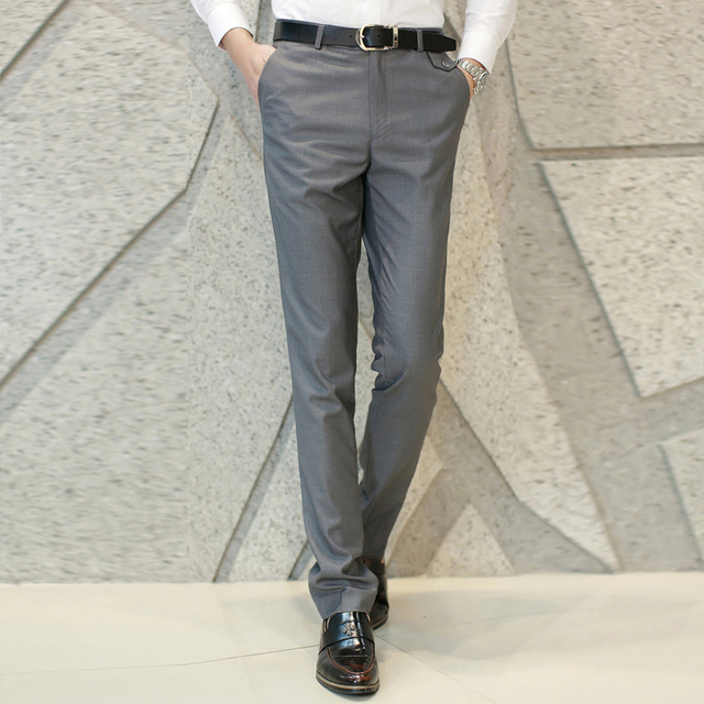 XMY3DWX fashion men Pure color business Suit pants/Male high-end High quality leisure trousers/Men casual pants 2