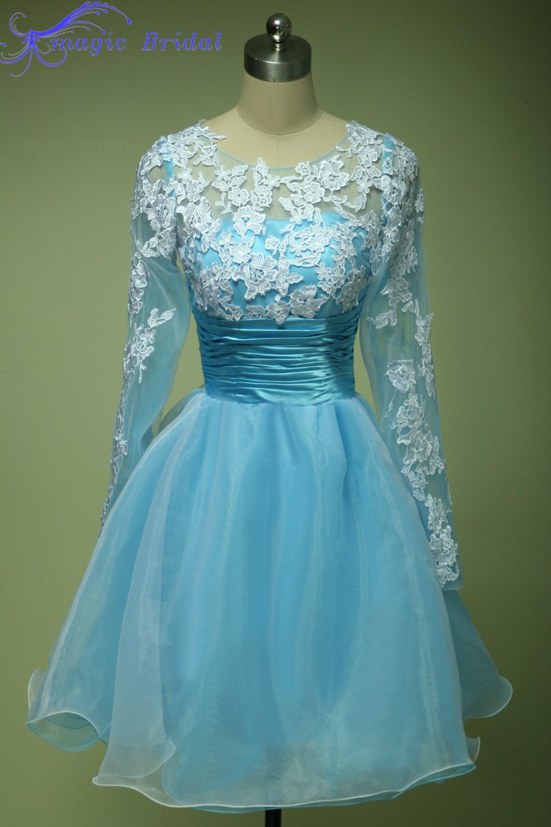 Long Sleeve Poofy Short Prom Dresses – fashion dresses