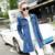 2016 Nueva Moda de Primavera y Otoño Mujeres del Dril de algodón Trench Coat Completa Abrigo de Los Pantalones Vaqueros Ocasionales Femeninos de manga Larga de Mezclilla Abrigo Señora Prendas de abrigo S