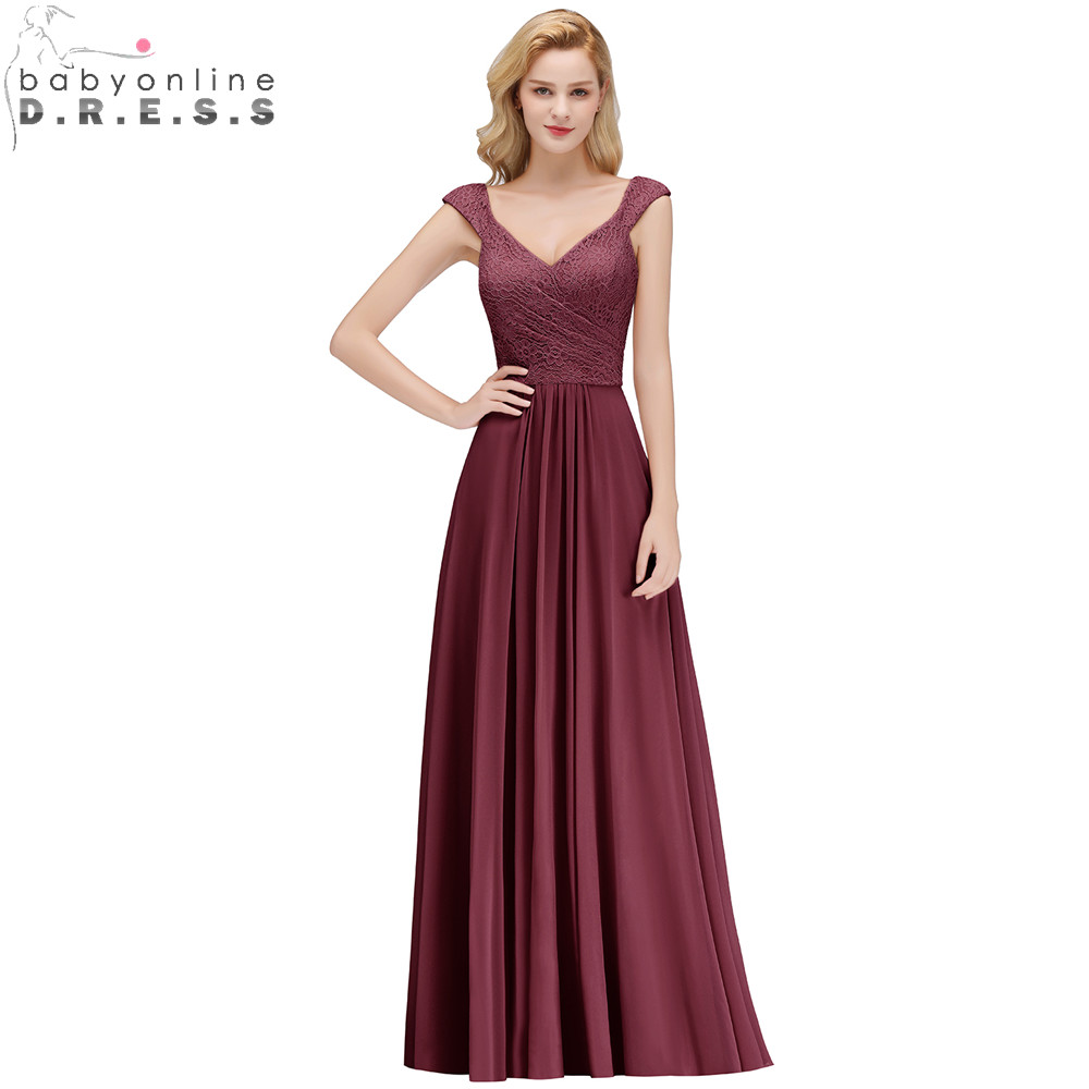Sexy V Back Lace Prom Dresses Long Charming Sweetheart Neck Cap Sleeve Chiffon Party Dresses Robe