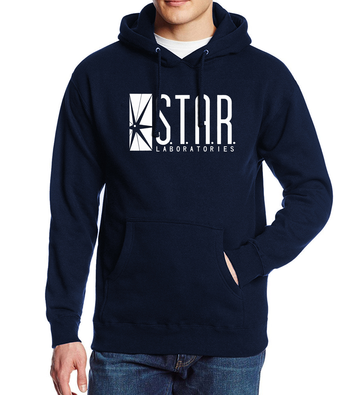STAR S.T.A.R.labs Printed Fashion Casual Hoody For Men 2017 Spring Sweatshirts Fleece Winter Hoodie Men's Sportswear Crossfit