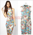 2017 new style women dress print casual Sexy vestidos Party Knee-Length dress for women