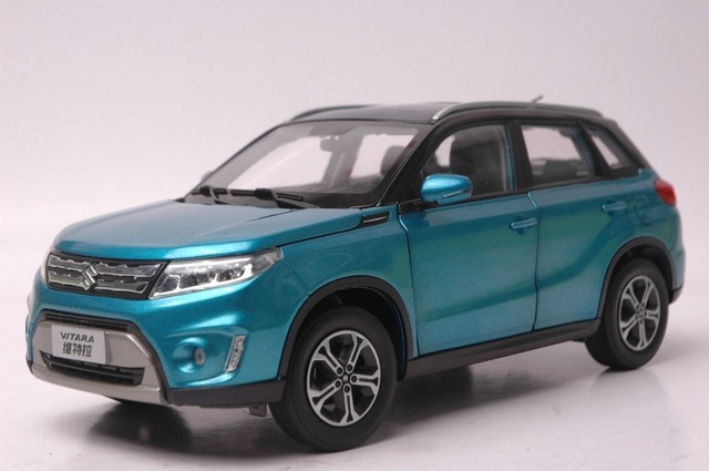 118 Diecast Model For Suzuki Vitara 2016 Blue Suv Rare Alloy Toy Car Collection