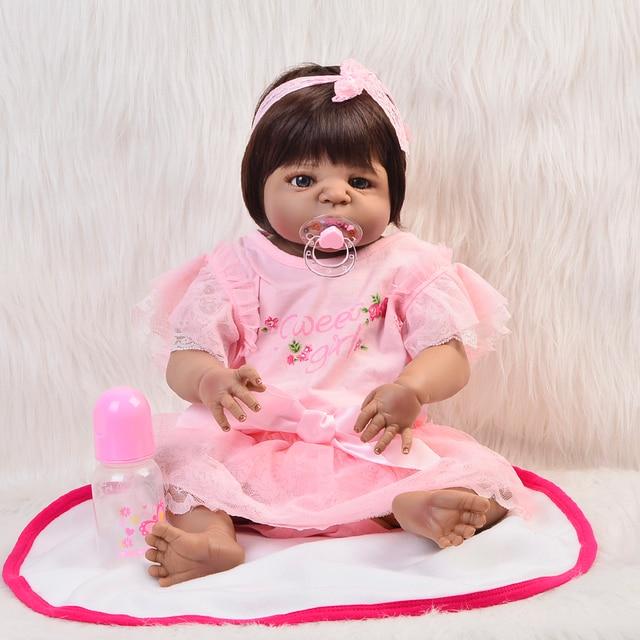34467ecca0a0a Ethniques 23   Réaliste Indien Reborn Baby Dolls Main Noir Peau 57 cm Plein  Vinyle
