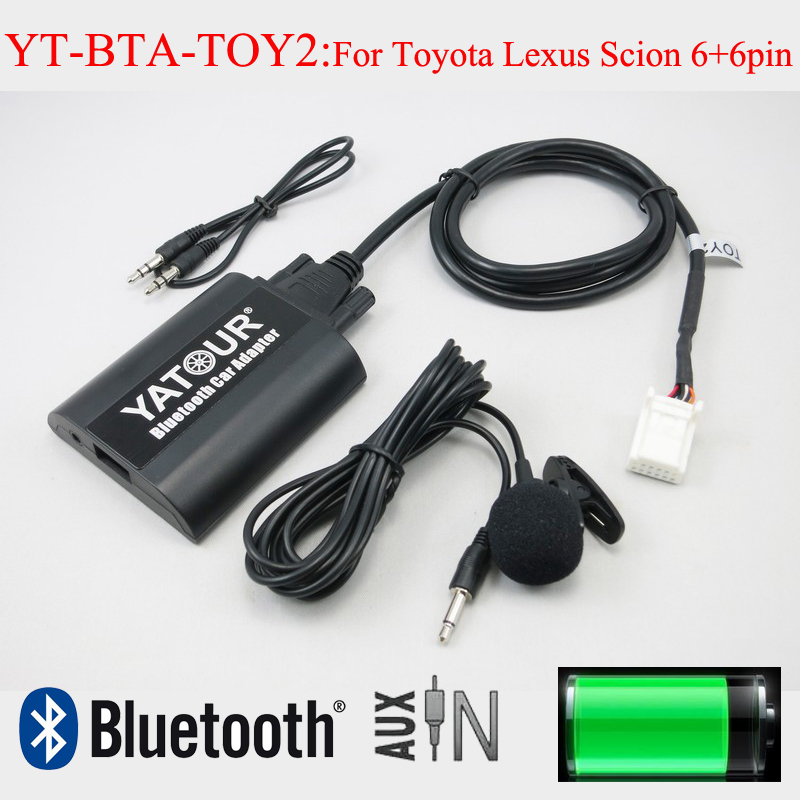 Interfaces de áudio do carro do bluetooth aux mp3 yatour para lexus toyota corolla camry highlander rav4 vitz avensis