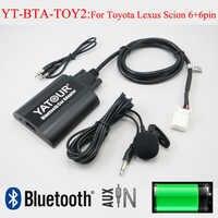 Yatour auto audio bluetooth aux mp3 schnittstellen für lexus toyota camry corolla highlander rav4 vitz avensis