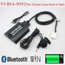 Yatour Bluetooth audio del coche AUX mp3 interfaz para Lexus Toyota Vitz Avensis RAV4 Camry Corolla Highlander