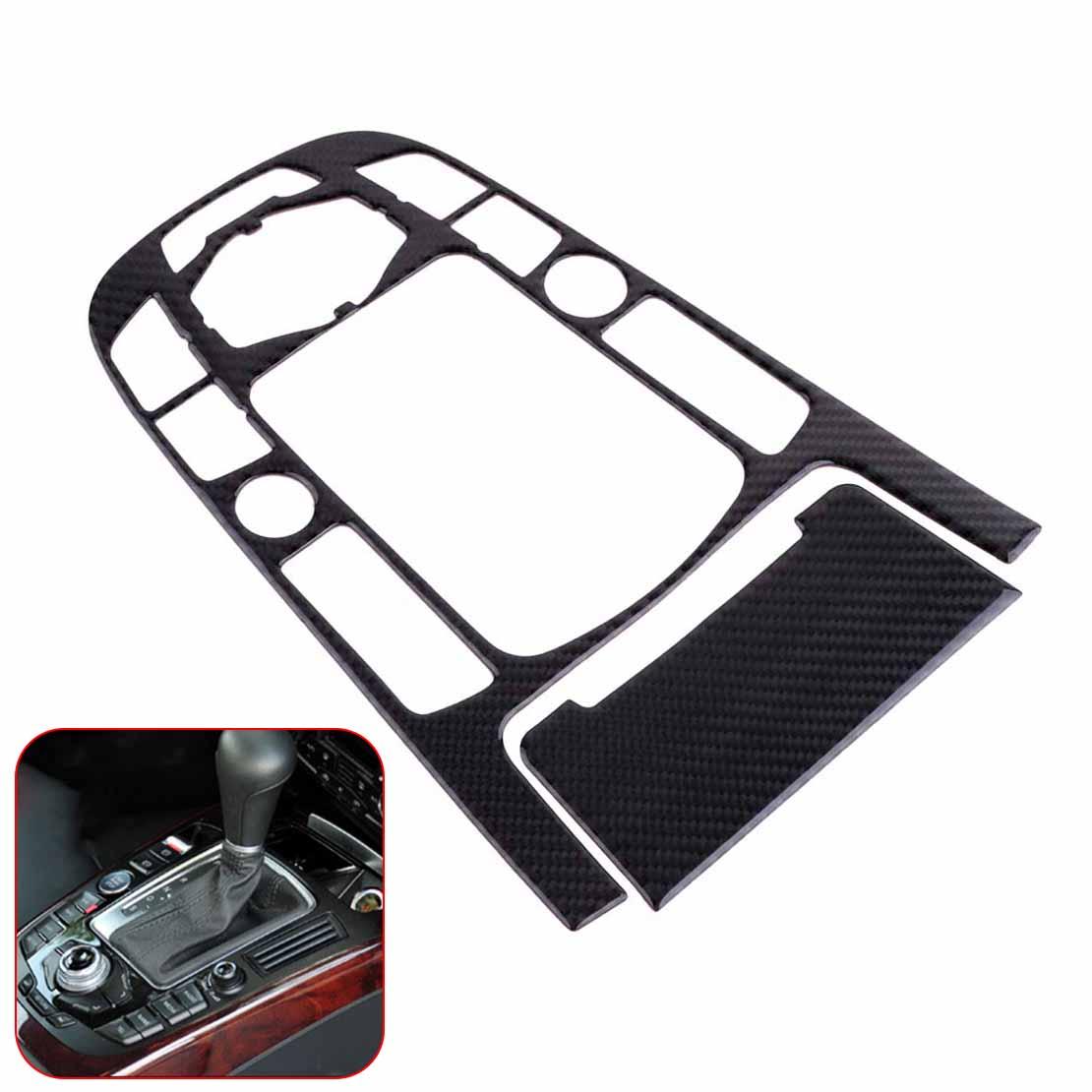 DWCX Carbon Fiber Strip Gear Shift Panel Cover Trim Car Interior Control Center Decorative Frame Molding