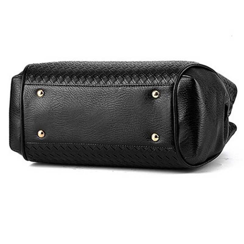 0c63649e34aa ... Новый женский, черный сумка-мешок женская Сумки из искусственной кожи  Сумки на плечо Элитный ...