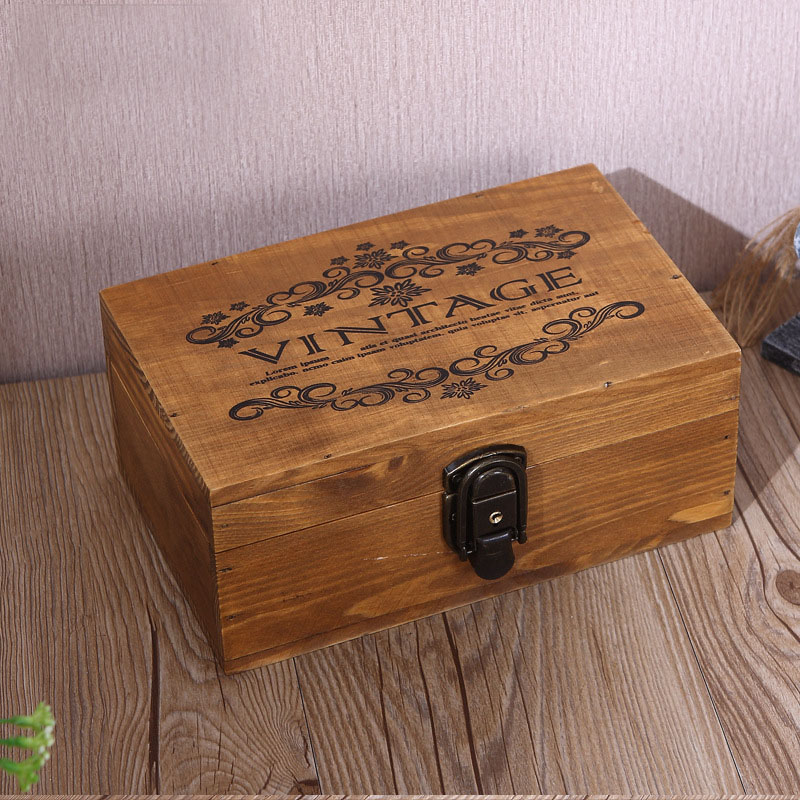 large vintage wood lock box retro jewelry boxes antique