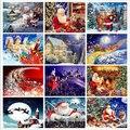 Рождественская Алмазная вышивка «сделай сам», полный квадрат, рождественский подарок, алмазная живопись, стразы из смолы, Алмазная мозаика,...