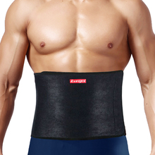 Kuangmi Waist Trimmer Ab Belt Trainer Back Lumbar Brace Slimming Adjustable Support  Compression Fitness