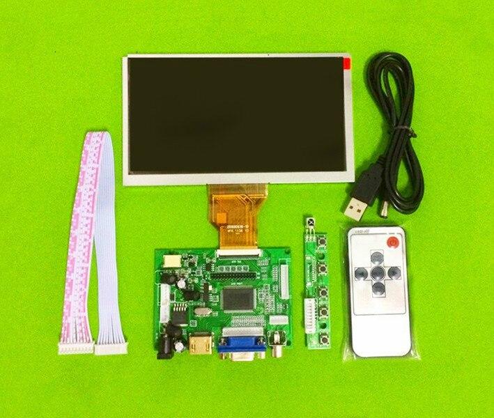 Jstping 6.5 inch 800*480 LCD screen AT065TN14 Driver Board Monitor HDMI VGA AV LVDS for Raspberry Pi Input Mini display panel