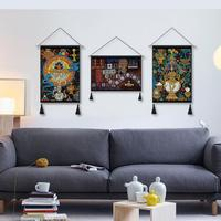Indian Tibetan Ethnic Wall Tapestry Wall Hanging Moroccan Decor Decorative Wall Cloth Tapestries tapis wall painting tapestry