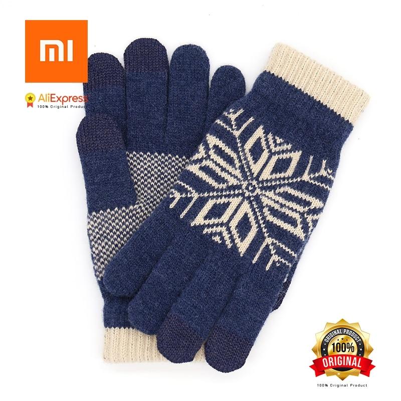 Xiaomi di lana degli uomini di tocco femminile guanti di pelle di autunno e di inverno guanti caldi guanti di tocco dello schermo del telefono tablet flagship store ufficiale