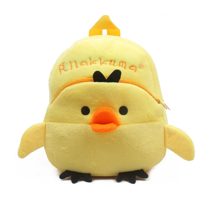 Hot Sale Lovely soft yellow chick Plush backpack plush school bag CHILDREN BACKPACK kid Satchel for