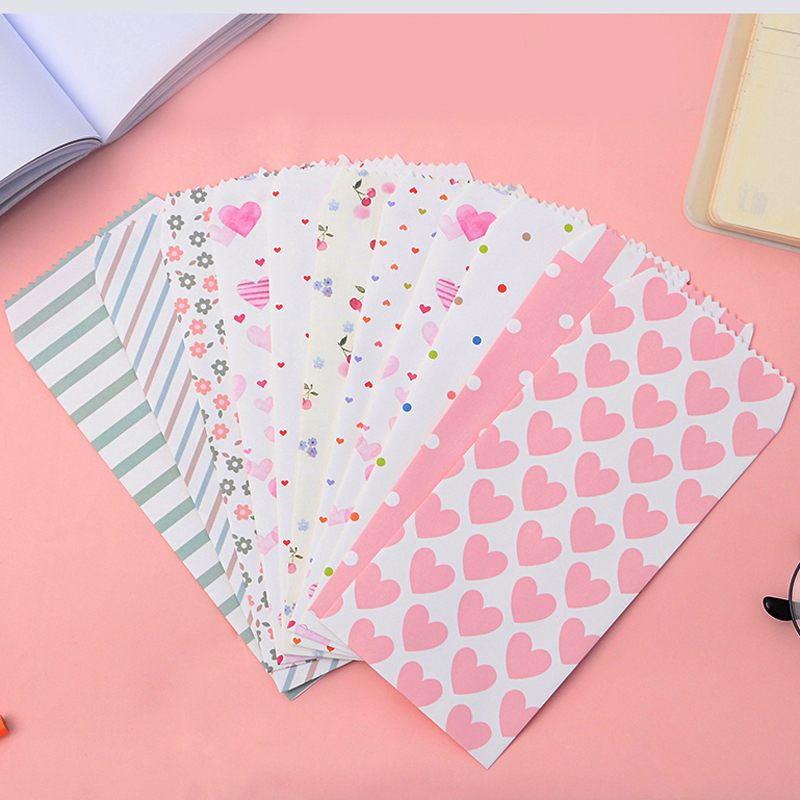 10 Pcs/lot Kawaii Paper Envelope Sweet Cute Fresh Style Wedding Envelope For Card Scrapbooking Gift Free Shipping