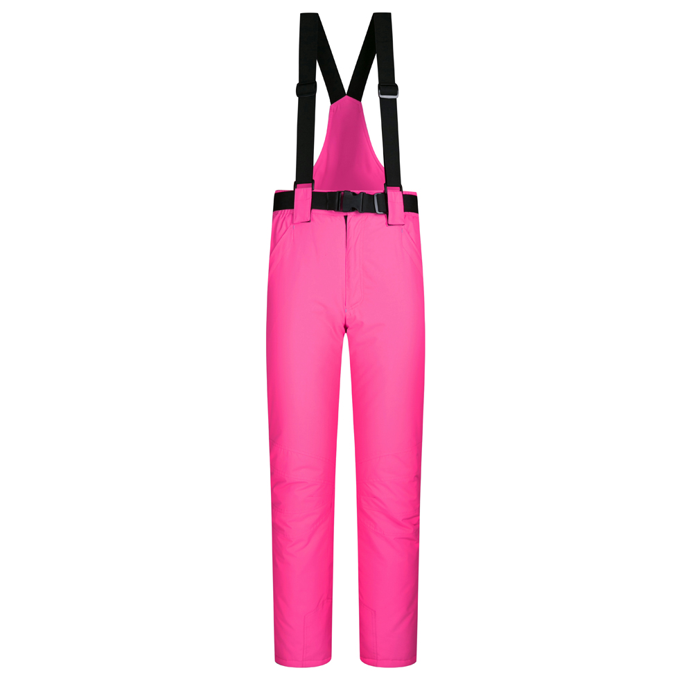 Outdoor Women Warm Ski Pants with Shoulder Straps Winter Sports Pants Colorful Ski Trous ...