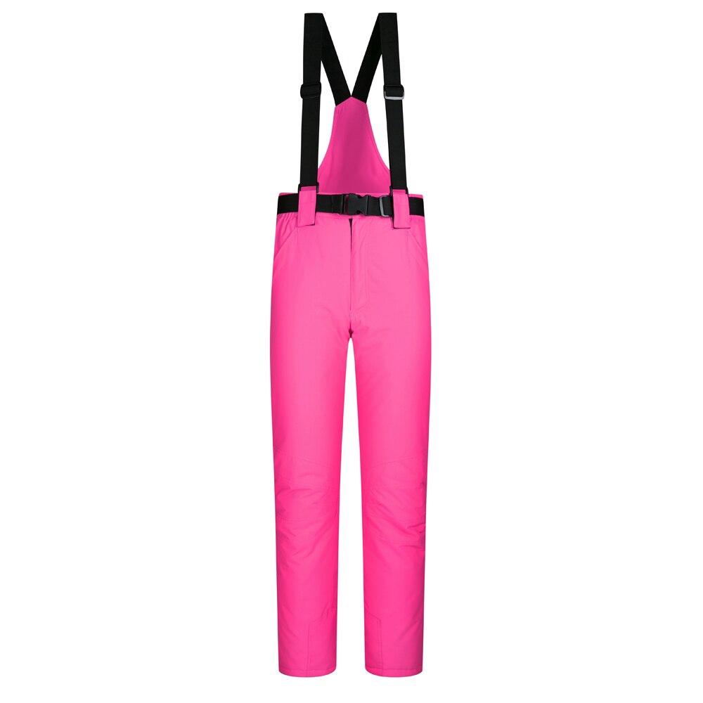 Pantalons de Ski chauds pour femmes en plein air avec bretelles pantalons de sport d'hiver pantalons de Ski colorés pantalons de Snowboard imperméables de taille S-XL