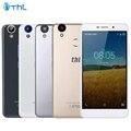 THL Original T9 Pro 4G LTE Teléfono Celular 2 GB RAM 16 GB ROM MT6737 Quad-Core 5.5 pulgadas 3000 mAh Android 6.0 Smartphone de Huellas Digitales