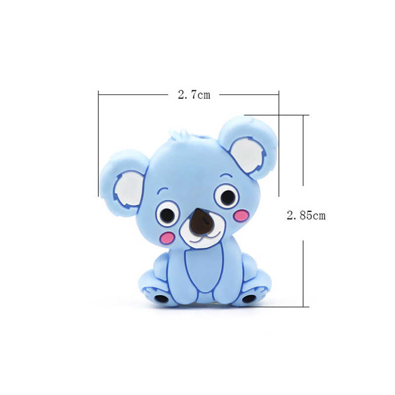 New Food Grade Silicone Teethers DIY Animal Koala Baby Ring Teether Infant Baby Silicone Chew Charms Kids Teething Toddler Toys