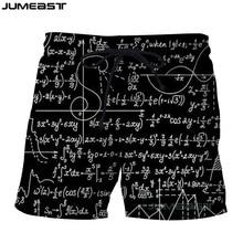 Jumeast 3D Printed Fashion Physics Math Formula Short Pants Funny Cool Geometric Men/Women Loose Size Novelty Board Shorts