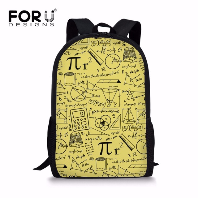 forudesigns 2018 Newest Happy Satchels Math Pattern Fashion School Bags for Childrens  Backpacks for Teen Girls Book Sac Mochila 965abd73cb