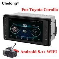 Android 8,1 Двойной Дин радио для Toyota Terios Старый Corolla Camry Wi Fi Bluetooth gps навигации Универсальный емкостный