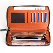 2018 New men's business clutches wallet long wallets male leather purse famous luxury brand men handy clutch money purses W152