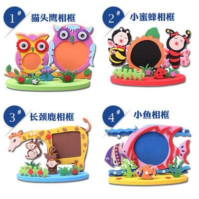 Easy Crafts Eva Sticky Sticker Animal Photo Frames Kids Child Creative Activity Diy Toys