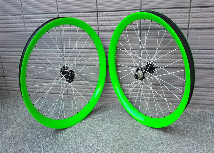 Hookless 26er с двойными стенками углерода Волокно фэт байке Колёса et ширина 65 мм Снег велосипед Колёса Бескамерная Совместимость OEM доступны